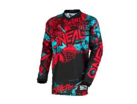 Oneal 2018 Element Attack Black Red Teal Jersey