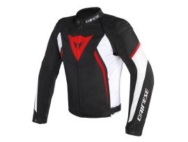 Dainese Avro D2 Black White and Red Tex Jacket