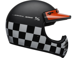 Bell 2020 Moto 3 Fasthouse Checkers Black White and Red Helmet