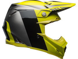 Bell 2020 Moto9 Flex Division Black Yellow Grey Helmet