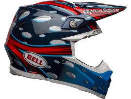Bell 2021 Moto-9 Flex MC Replica Blue Red Black Helmet