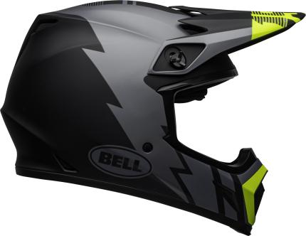 Bell 2020 MX-9 Mips Strike Matte Grey Black Yellow Helmet