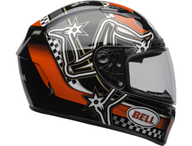 Bell 2020 Qualifier DLX MIPS Isle Of Man Red Black and White Helmet