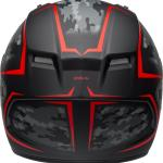 Bell 2020 Qualifier Stealth Camo Matte Black and Red Helmet