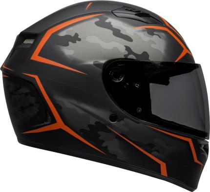 Bell 2020 Qualifier Stealth Camo Matte Black and Red Motorcycle Helmet