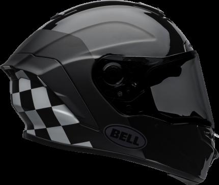 Bell 2020 Star DLX MIPS Lux Checkers Black and White Helmet