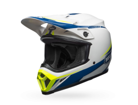 Bell MX-9 MIPS Torch White Blue Yellow Helmet
