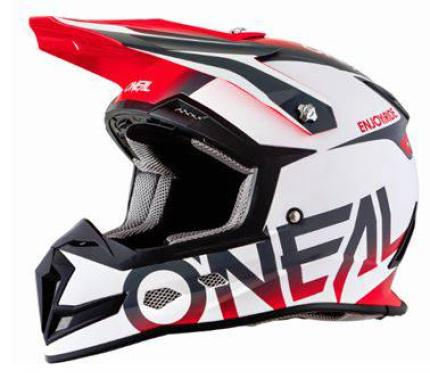 Oneal 2018 5 Series Blocker White Red Grey Helmet