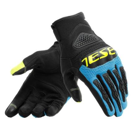 Dainese Bora Black Blue and Yellow Gloves