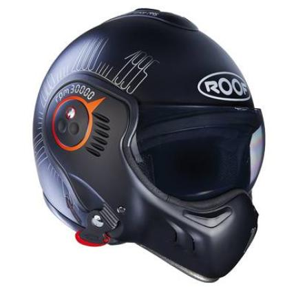 Roof Boxer V8 1995 Matte Black Fluro Orange Helmet