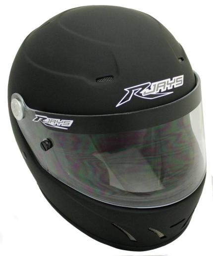RJays Chicane (With M6 Terminal) Matte Black Helmet