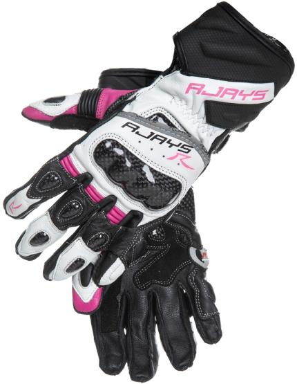 Rjays Long Cobra II White Pink and Black Gloves