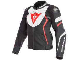 Dainese Avro 4 White and Matte Black leather Jacket