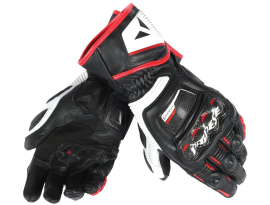 Dainese Druid D1 Long Black White and Lava Red Gloves