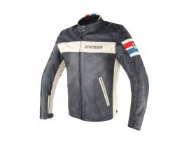 Dainese HF D1 Leather Black Ice Blue Red jacket