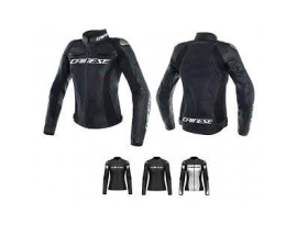 Dainese Racing 3 Ladies Black Leather Jacket