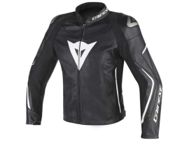 Dainese Assen Perforated Leather Black White Jacket