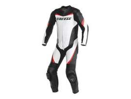 Dainese Racing P.Estiva One Piece White Black Red Suit