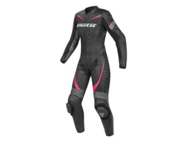 Dainese Racing P 1 Piece Lady Black Anthracite Pink Suit