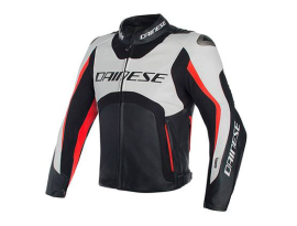 Dainese Misano White Black Red D-Air Jacket