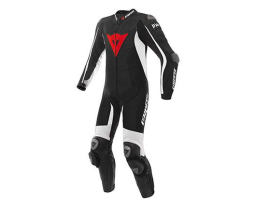 Dainese D-Air Racing Misano 1pce Black White Perforated Suit