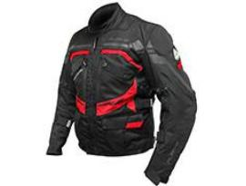 Rjays Dune Jacket Black/Red/Grey