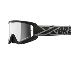 EKS Gox Flat Out Black and Silver Mirror Lens Goggles