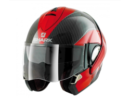 Shark Evoline Pro Carbon Red White Helmet