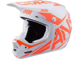 Answer Evolve 3 White/Orange Helmet 2017 - Adult