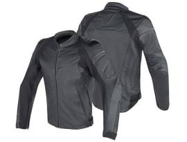 Dainese Fighter Leather Black Jacket