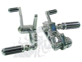 Scoprion Custom Chrome Rail Forward Controls