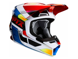 Fox 2020 Youth V1 Yorr Blue and Red Helmet
