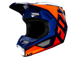 Fox 2020 V1 Prix Lovl Orange and Blue Helmet