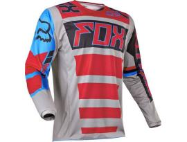 2017 Fox 180 Falcon Gray Red Jersey