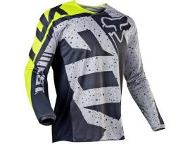 2017 Fox 180 Nirv Gray Yellow Jersey