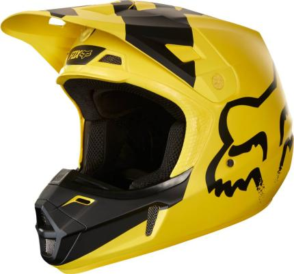 Fox 2018 V2 Mastar Yellow Helmet