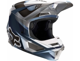 Fox 2019 Youth V1 Motif Blue Grey Helmet