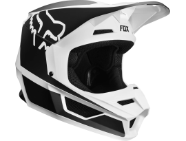 Fox 2019 V1 Przm Black White Helmet