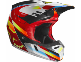Fox 2019 V3 Motif Red Yellow Helmet