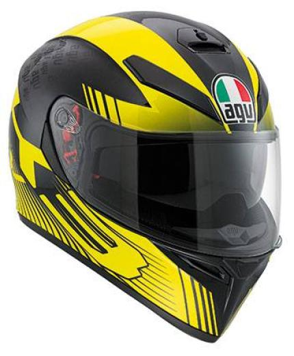 AGV K3 SV Glimpse Black Yellow Helmet