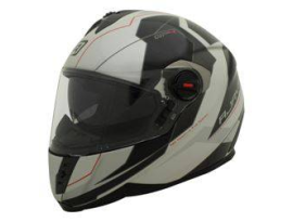 Rjays GP4 Racer Gloss Pearl White Black Red Helmet with TSS
