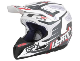 Leatt GPX 5.5 Graphic Black White Red Helmet