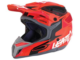 Leatt GPX 5.5 Graphic Orange Black Red Helmet