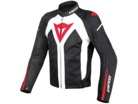 Dainese Hyper Flux D-Dry Black White Red Jacket