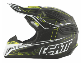 Leatt GPX 6.5 Carbon Junior V02 Yellow Black Grey Helmet