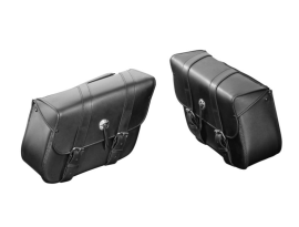 Highway Hawk Real Leather Saddlebags Set