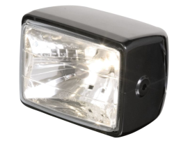 Highway Hawk Rectangle Side Mount Black ABS E-Mark Headlight