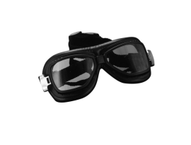 Highway Hawk Red Baron Goggles with Curved Lenses