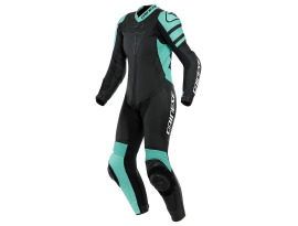 Dainese Killalane 1 Piece Black and Aqua Suit
