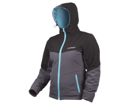 Motodry Ladies Black Grey Teal Kevlar Hoody